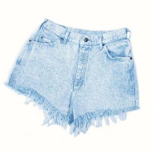 Vintage Acid Wash High Wasted Cut Off Jean Shorts